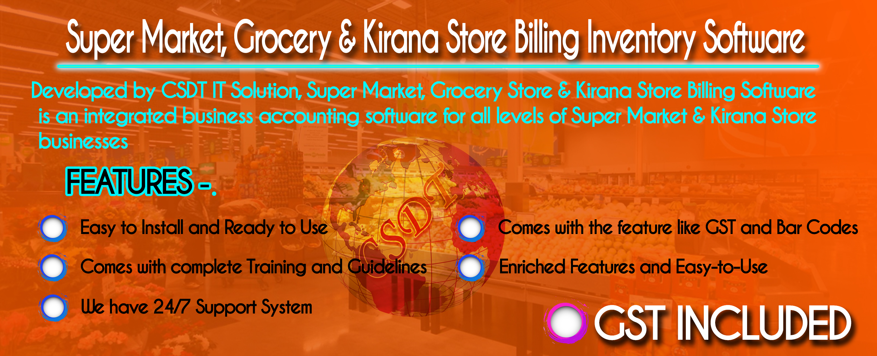 Super Market & Grocery Store Billing  Software